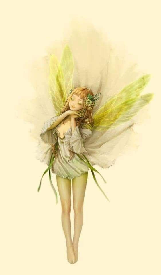 Sweet Faerie With Yellow Wings Faeries In 2019 Fairy