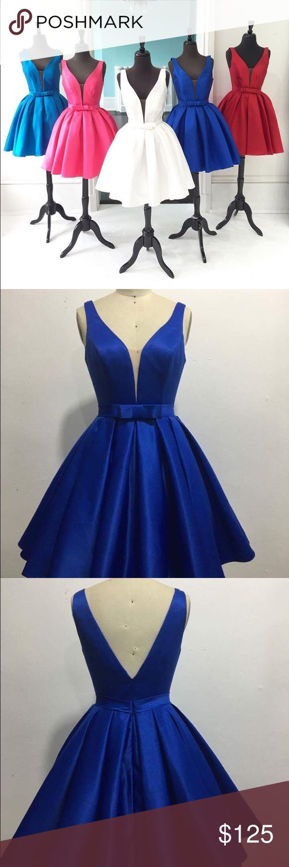 Hr royal blue cocktail dress short prom nwt limited sizes