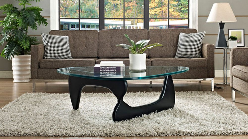 Lacquered Finish Wood Coffee Table Of Isamu Noguchi Coffee Table