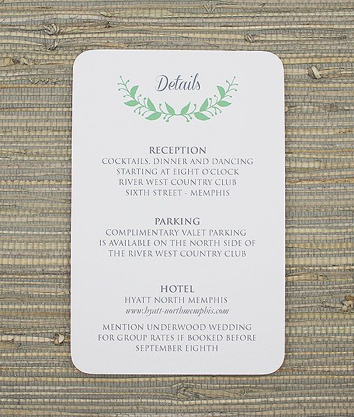 reception card templates