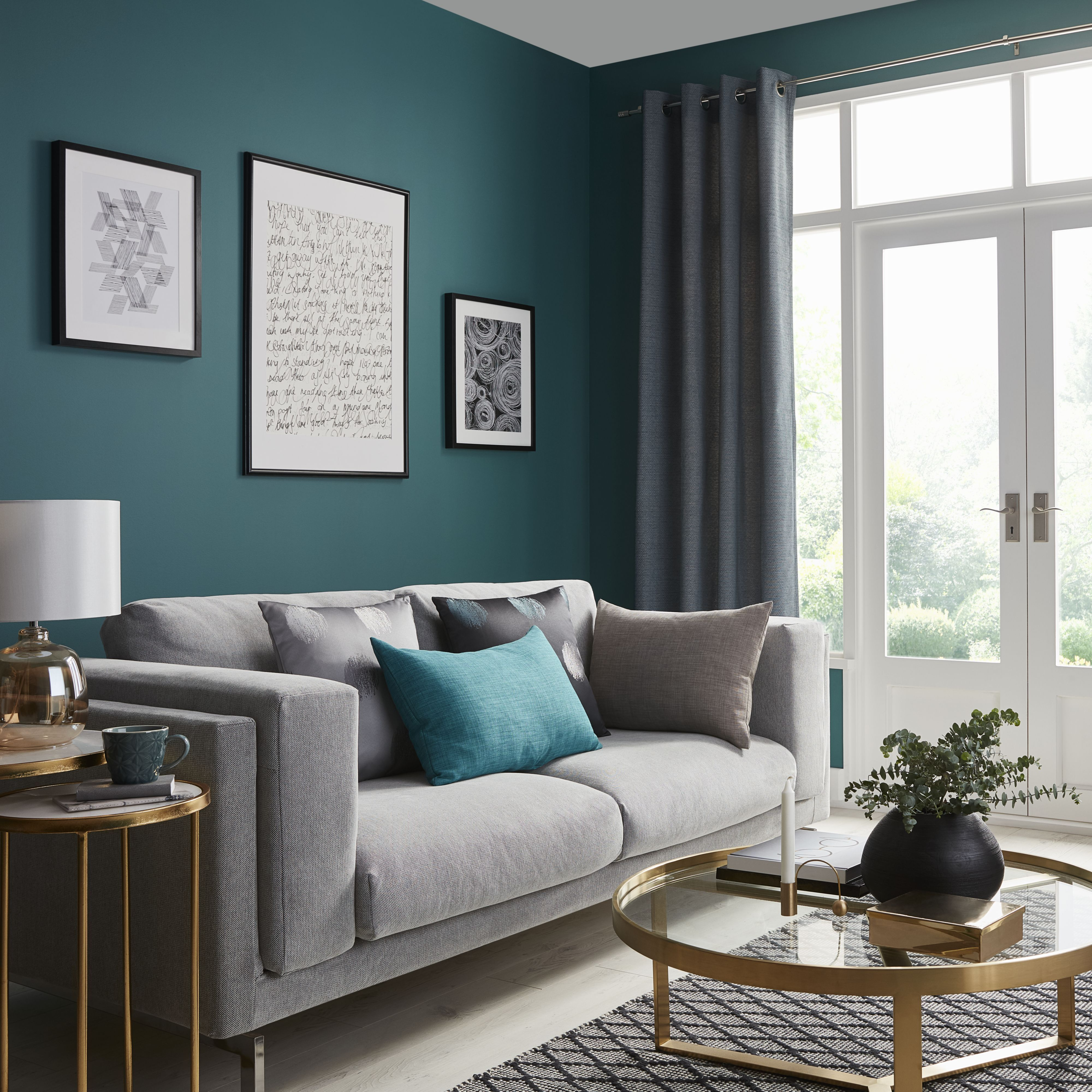 Living Room Decor Modern Image By Debbie Clark On Tiny Flat In 2020 Blue Living Room Simple Living Room Decor