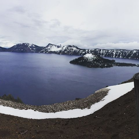 A view today from Crater Lake