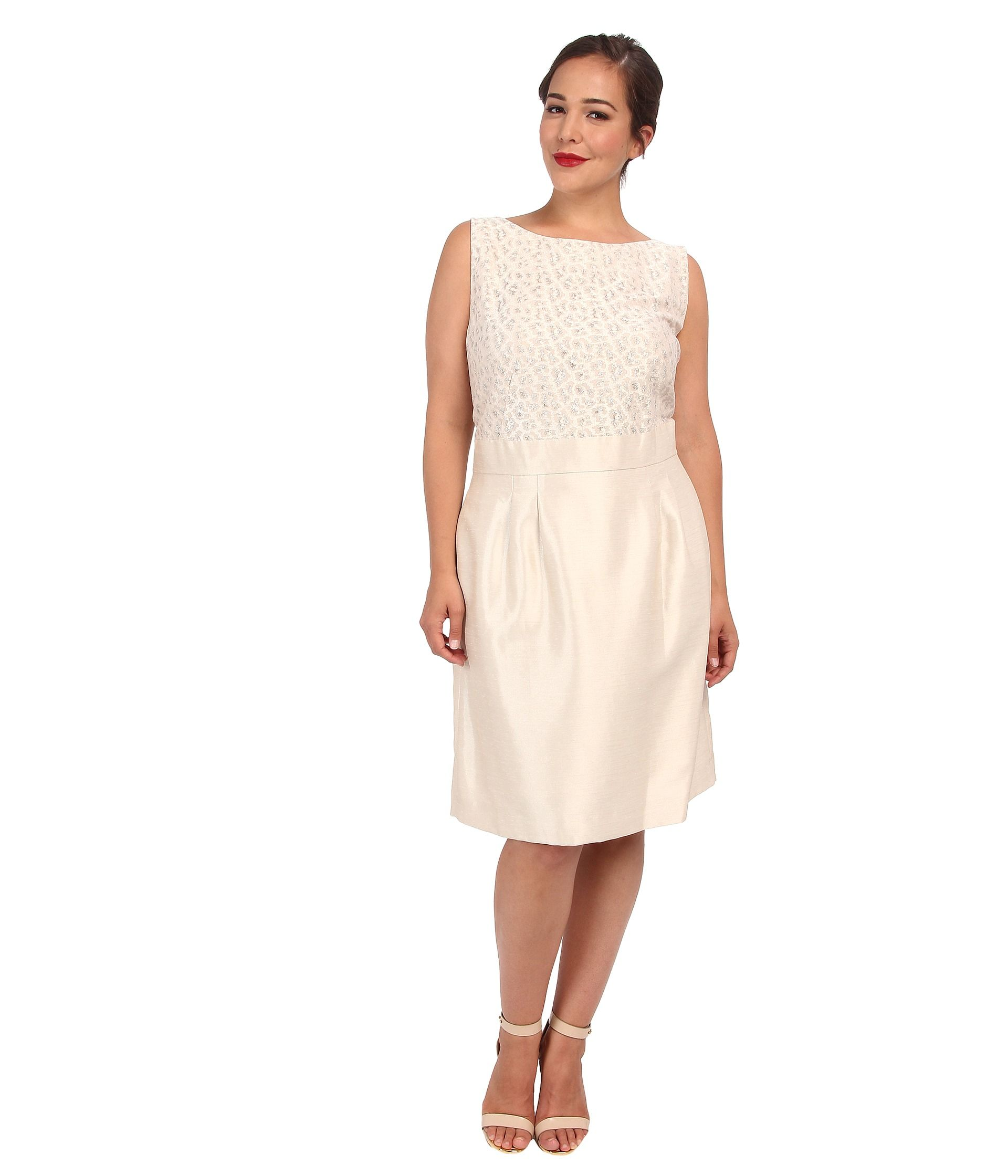 Tahari by ASL Plus Plus Size Leon Dress Champagne - 6pm.com ...