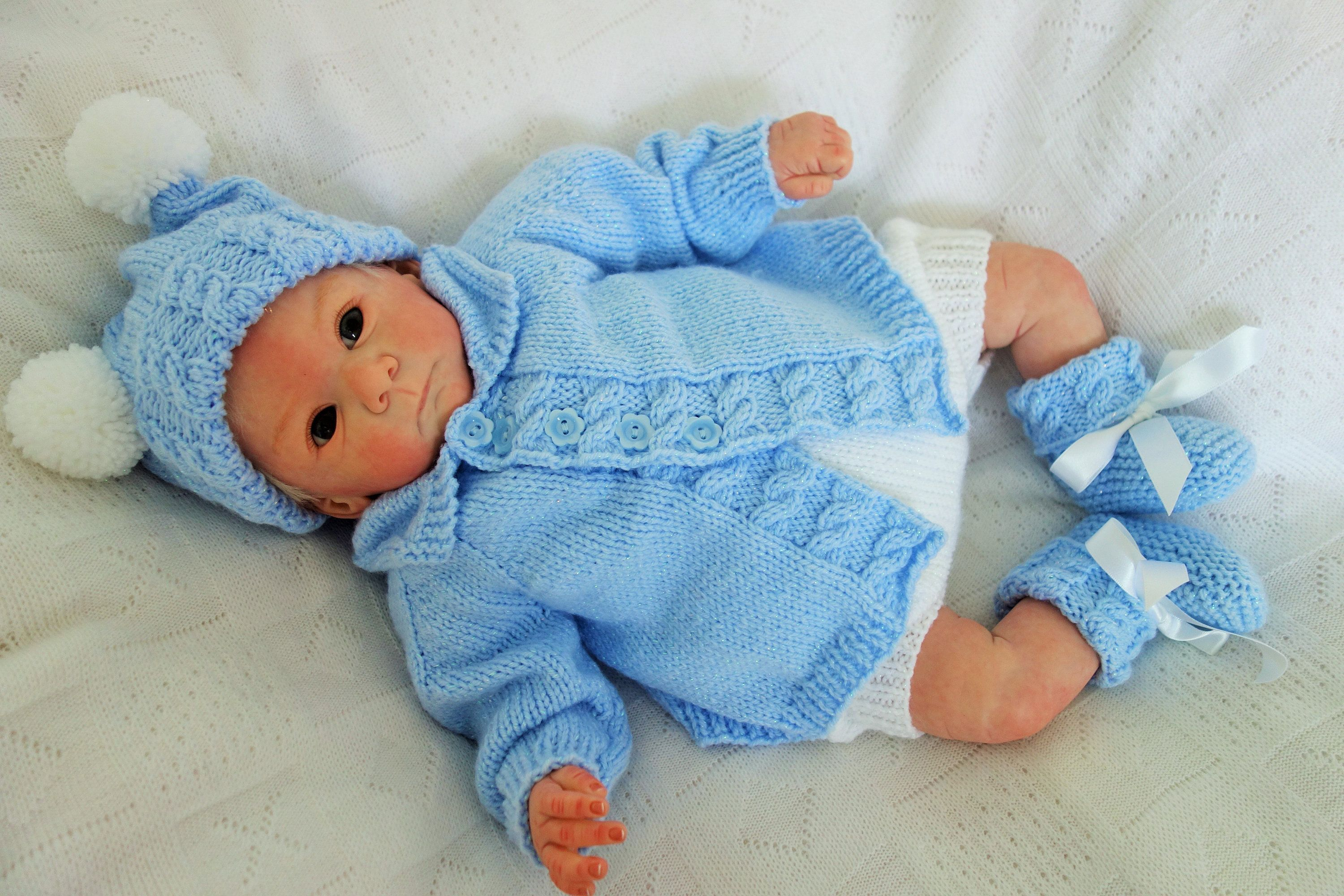 3addd42076b0 Hand knitted baby dungarees rompers