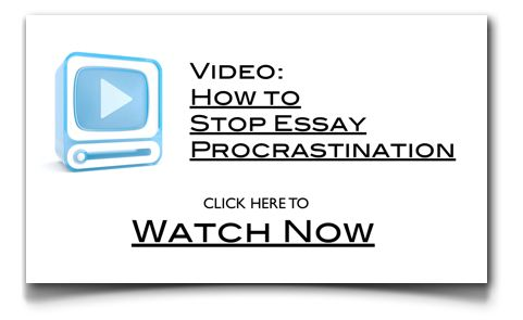 Essay procrastination