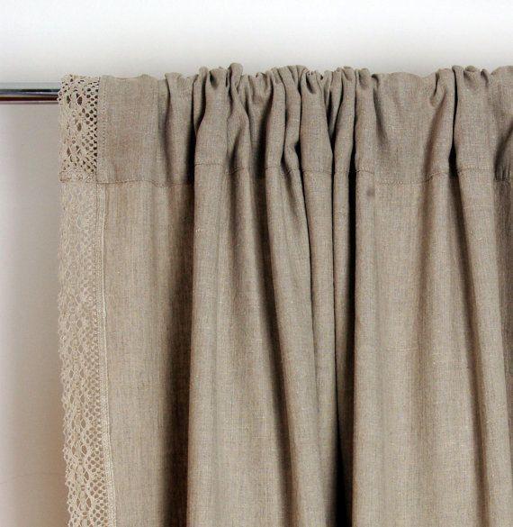 Cortinas lino cortina medida longitud del cordn por NordicStyle  Curtain in 2018  Curtains Linen curtains Window curtains
