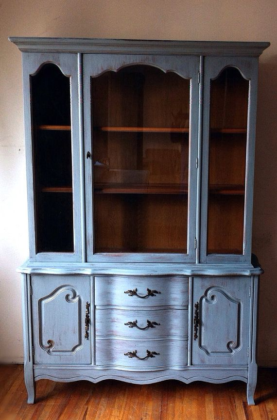vintage bassett furniture hand painted distressed wood by nakhome rh pinterest com bassett furniture industries antique china cabinet bassett furniture industries inc antique china cabinet