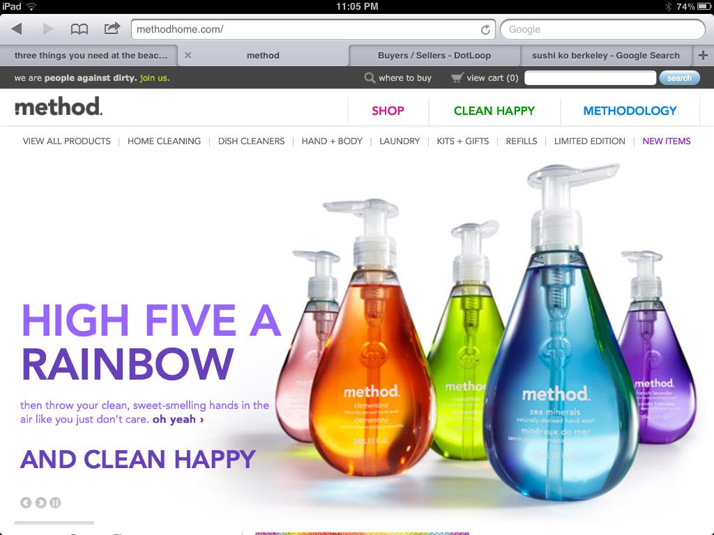 Method Clean Homepage