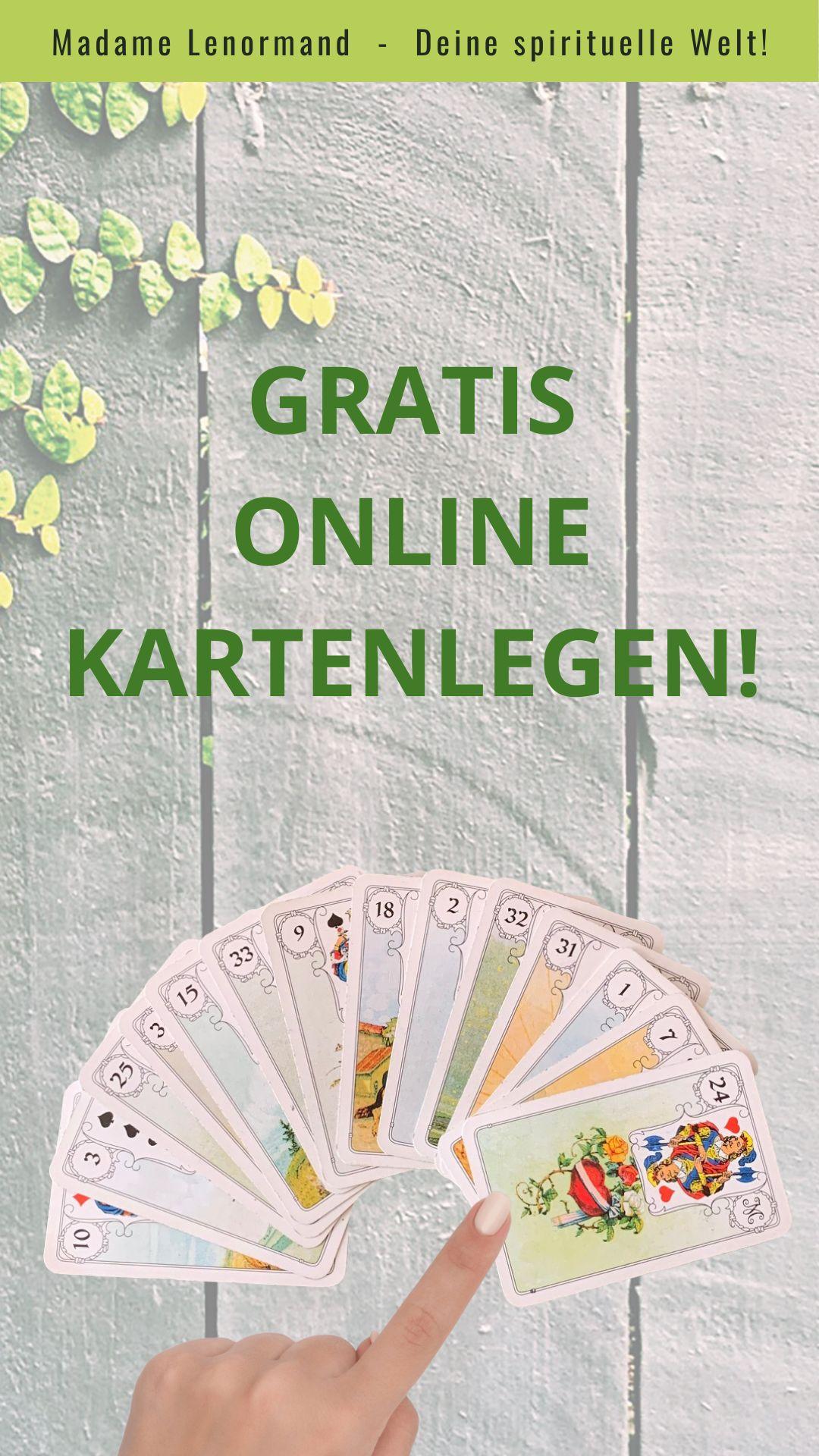 Gratis Kartenlegen | Karten legen, Kartenlegen online