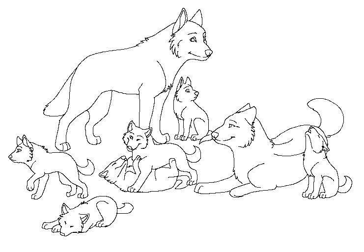 Coloring Wolf Pages