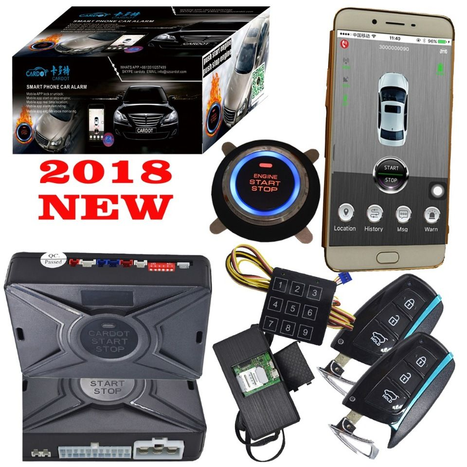 Manual Easy Car Alarm That Calls Cell Phone Keyless Entry System Start Stop Engine Gps Tracking