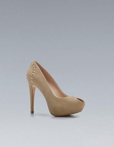 ab7443f2 PEEP TOE TACHAS - Zapatos tacón - Zapatos - Mujer - ZARA España ...