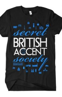 Secret British Accent Society T-Shirt - Bryan Stars T-Shirts - Online Store on District Lines