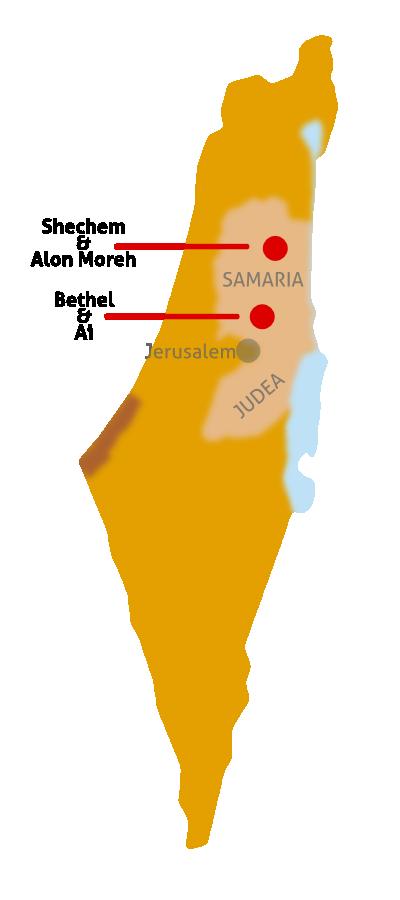 Shechem Alon Moreh Ai Bethel Map wwwcfoicheartlandcom