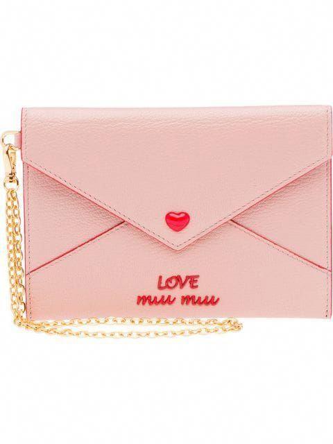 a90c5fd2b9cc Miu Miu Madras Heart Envelope Wallet - Farfetch  MiuMiu