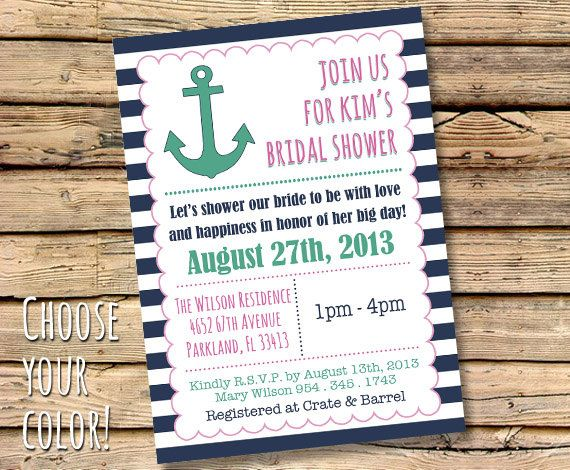 PRINTABLE Bridal Shower Party Invitation by RockCandiePaperie, $20.00