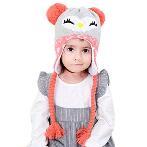 6d1305fb7 Exemaba Baby Toddler Kids Girls Hat Warm Soft Child Boys Kintted ...