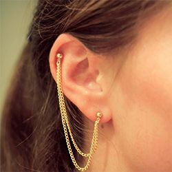 Make Your Own Pretty Cartilage To Lobe Chain Earring In 3 Super Easy Steps For Under 5