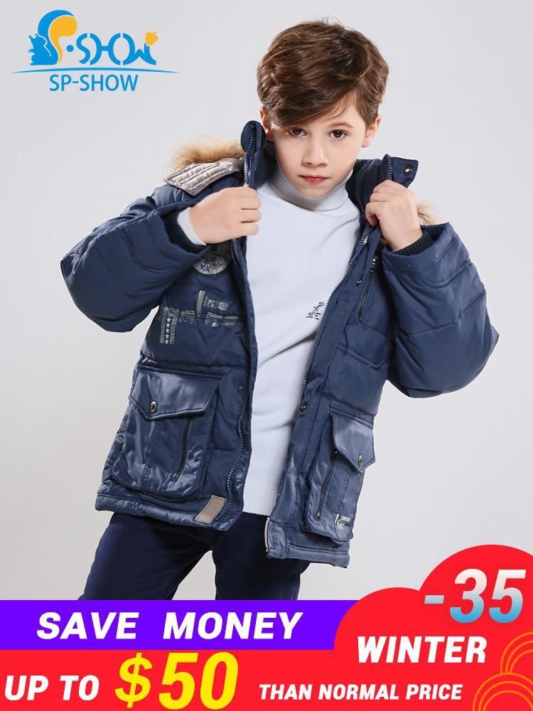 c14bb2c612b 2018 Winter Luxury Brand Kids Jacket Boys Winter Jacket With Fur ...