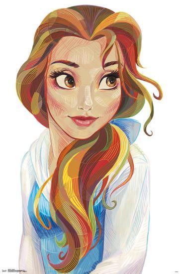 Meine Disney Zeichnung - Bell+-+Stylized - Mara E.