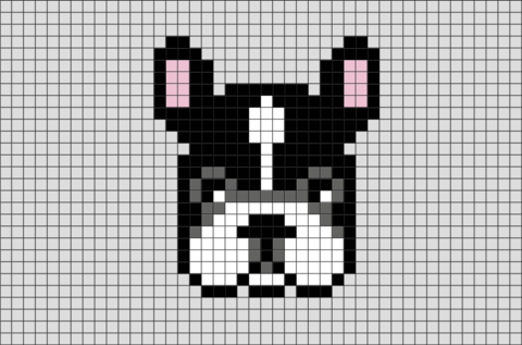 French Bulldog Pixel Art Pixel Art Cross Stitch Animals