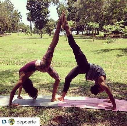 pinliron on אתגר היוגה  partner yoga poses couples