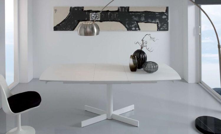 Moderna mesa de comedor disponible en color blanco, de diseño ...