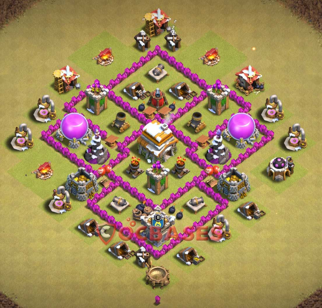 Coc Th 6 Best War Base 1
