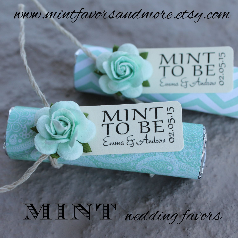 Mint Wedding Favors Set Of 110 Mint Rolls Mint To Etsy Mint Wedding Favors Mint Wedding Wedding Favors