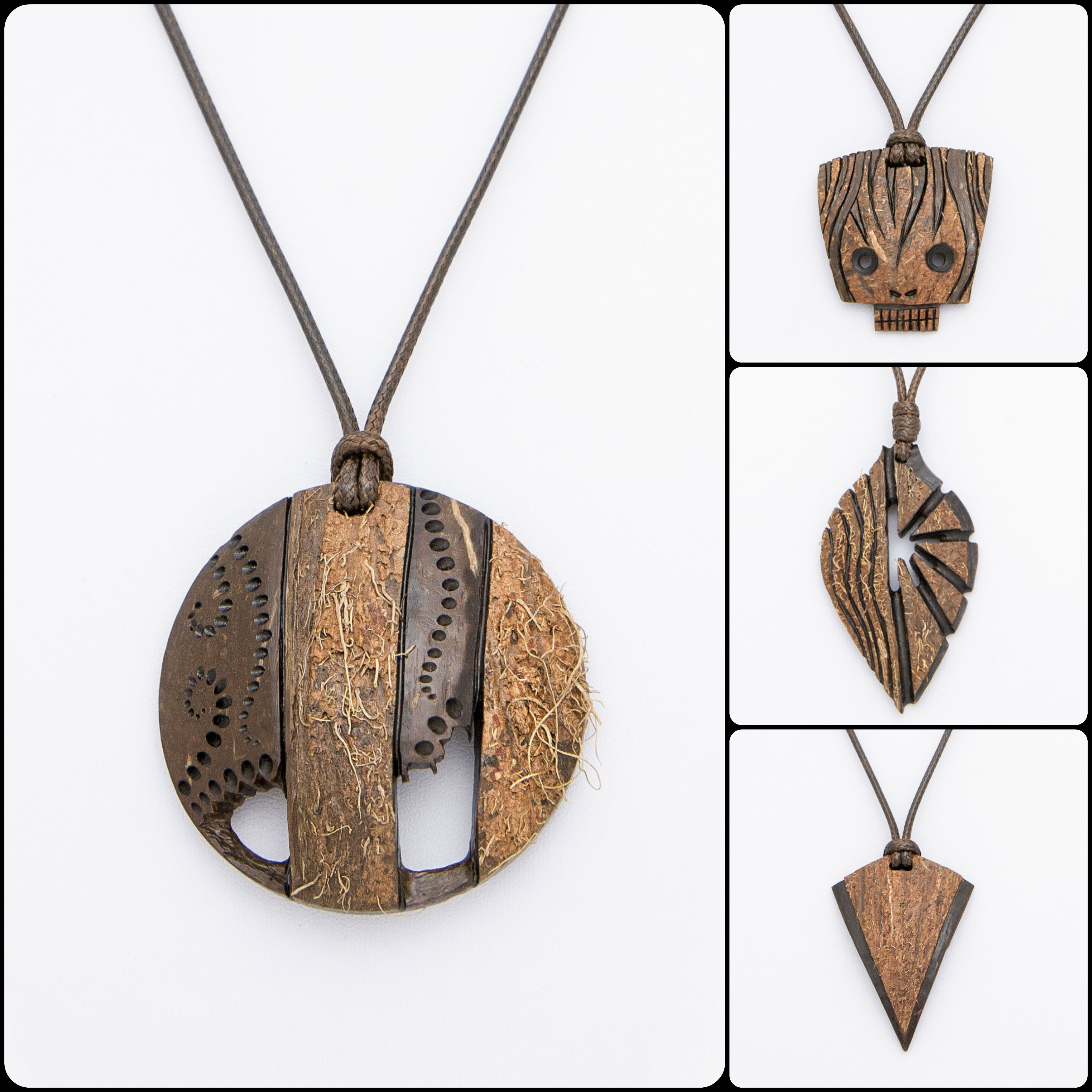 Hand Carved Jewelry From Coconut Shell And Wood