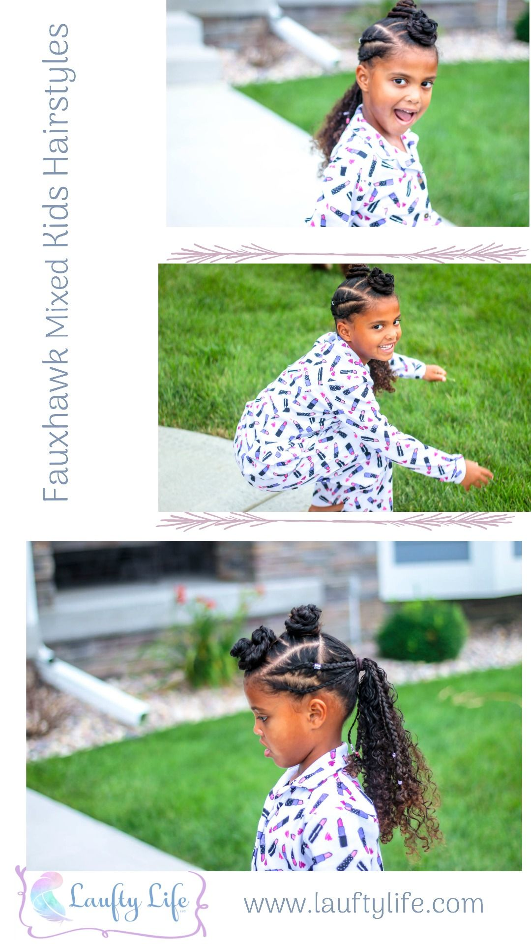 Cute fauxhawk style for mixed girls curly hair natural hair kids
