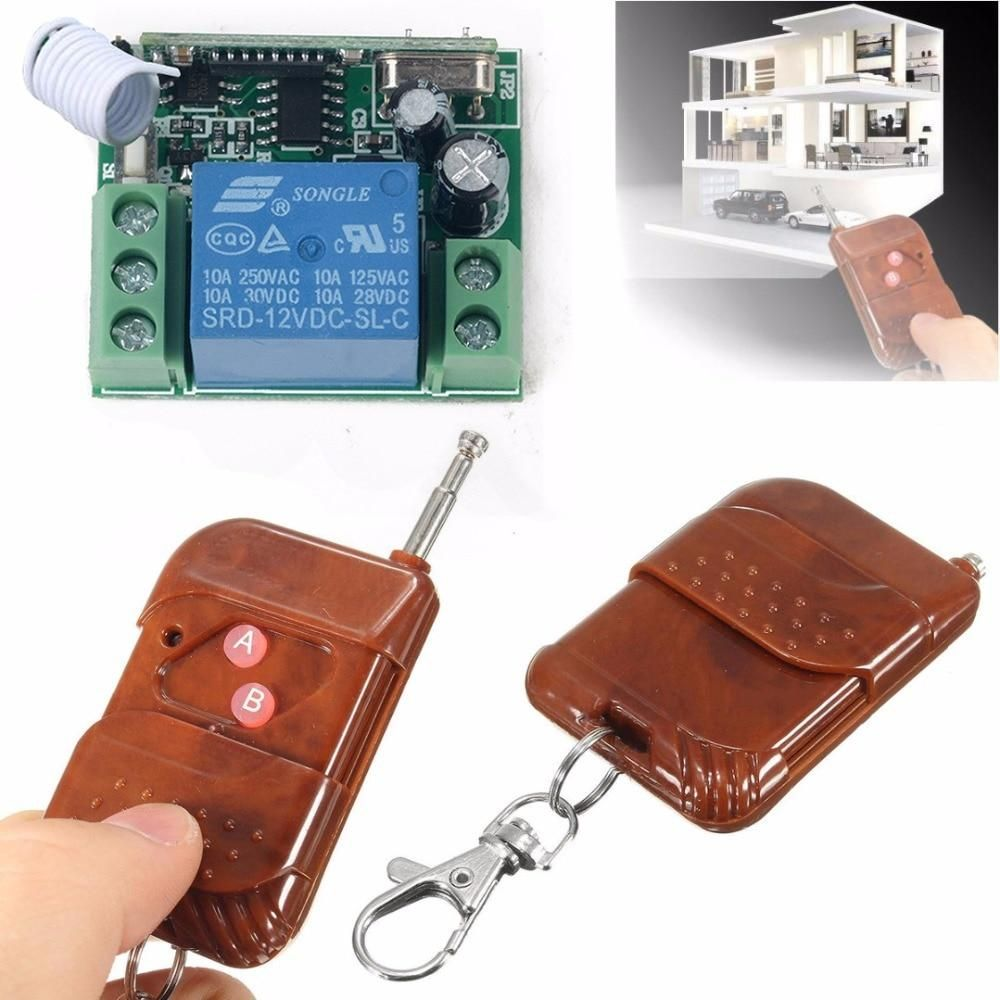 1 Channel Wireless Relay Remote Control Switch Receiver Transmitter 150m For Garage Door In 2020 Transmitter Remote Wireless