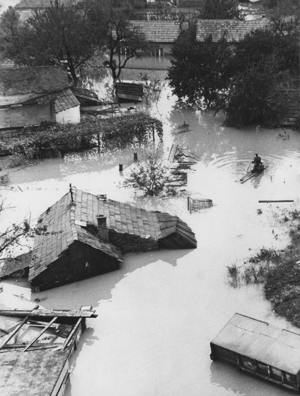 River Sava Flood Zagreb Croatia Abstract Artwork