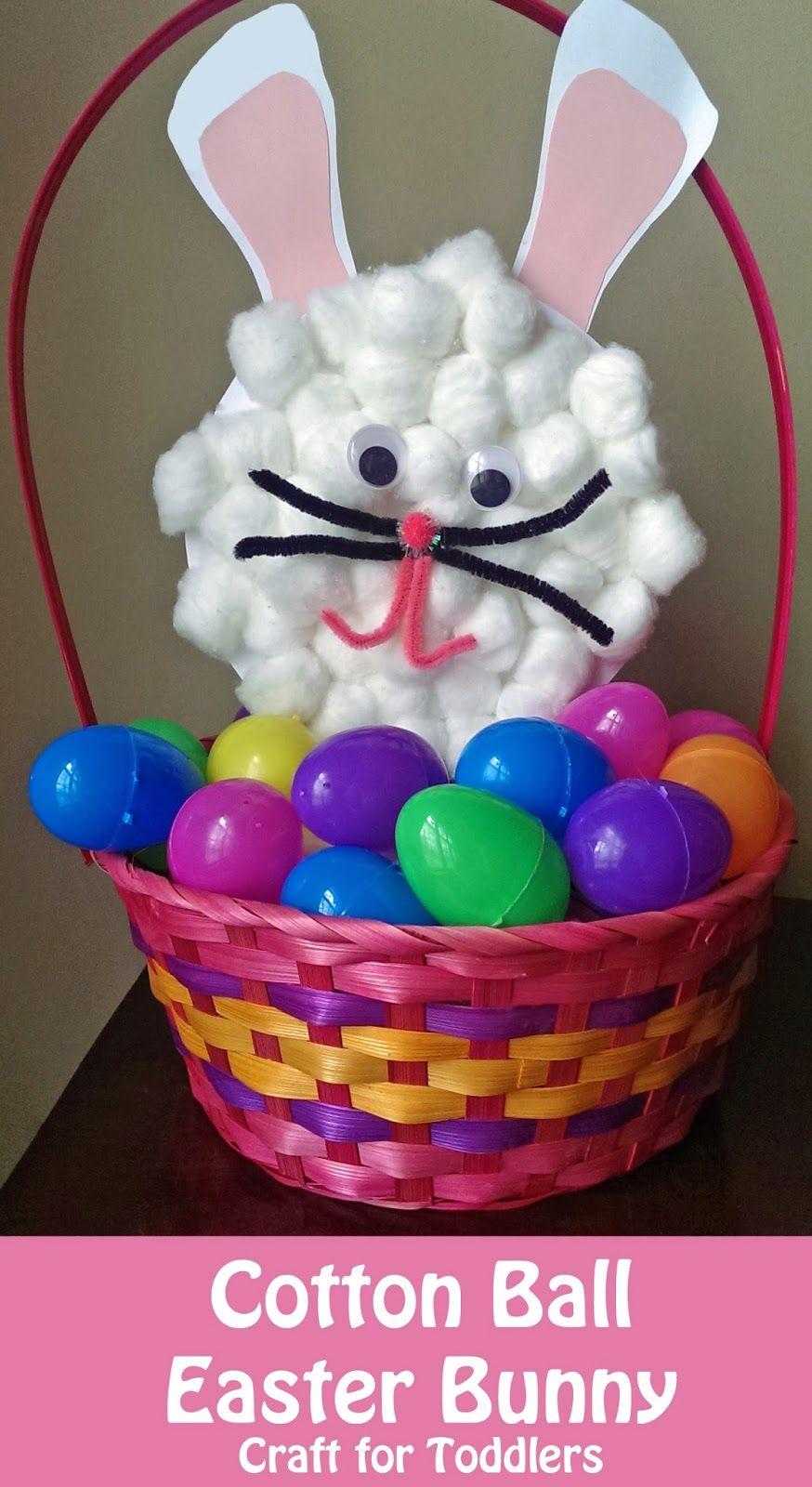 Cotton Ball Bunny Easter Craft