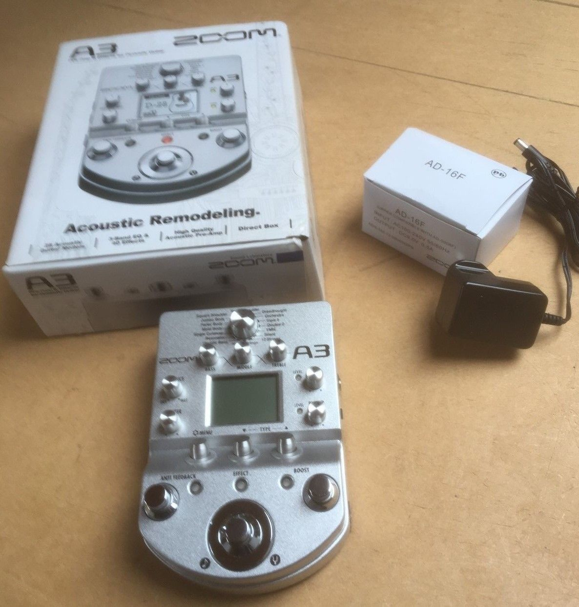 Zoom A3 Multi Effects Acoustic Guitar Pedal Acoustic Guitar Acoustic Guitar
