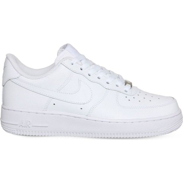 NIKE Air force 1 lo leather trainers ($91) ❤ liked on Polyvore featuring  shoes