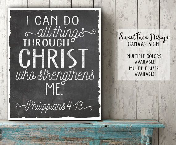 Canvas Sign I Can Do All Things Through Christ Who Gives Me