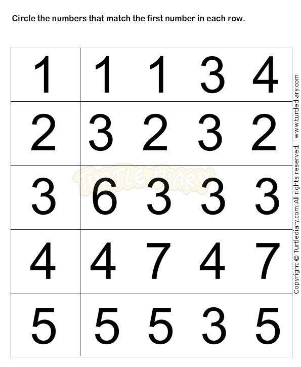 Learn Numbers Worksheet1 - math Worksheets - preschool Worksheets