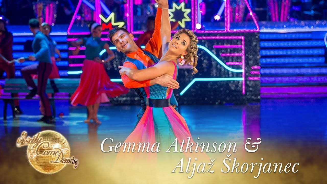 Janette manrara wedding dress  Gemma and Aljaz American Smooth to uDowntownu  Strictly Come