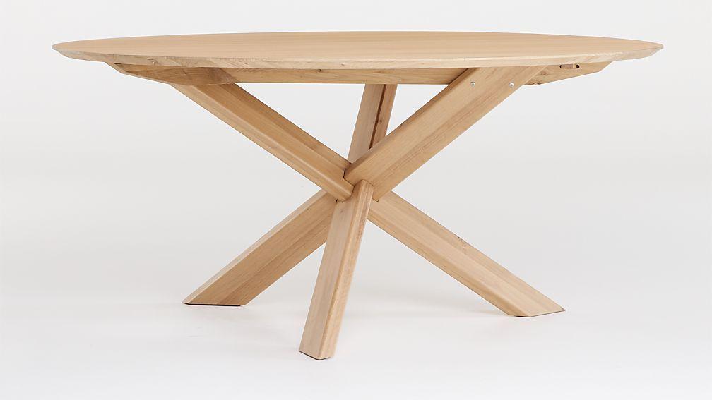 Apex White Oak Round Dining Table, Round Pub Table Canada