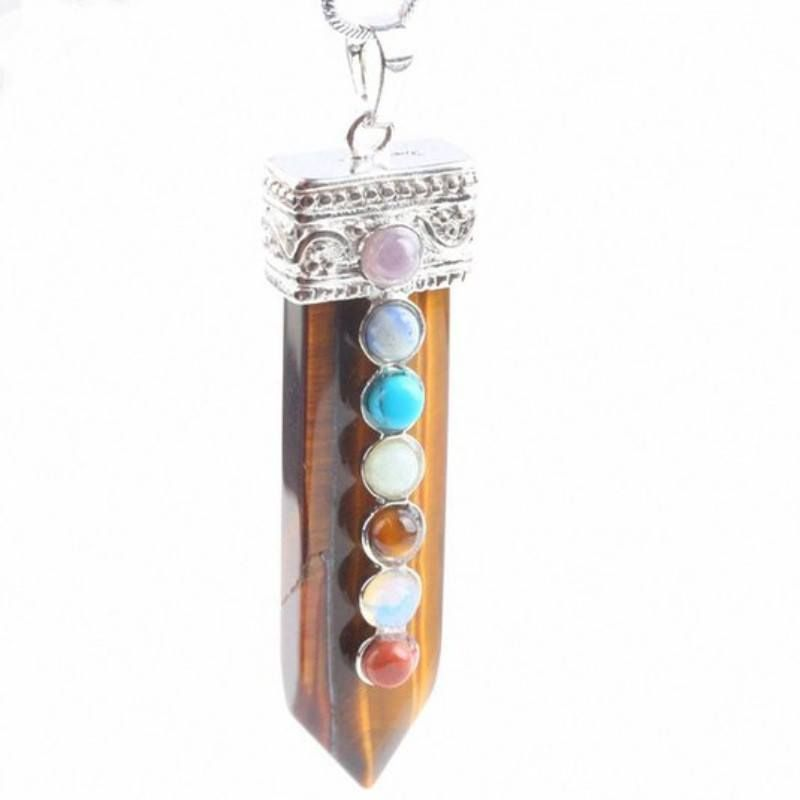 Natural Stone Chakra Pendant Necklace [9 colors]