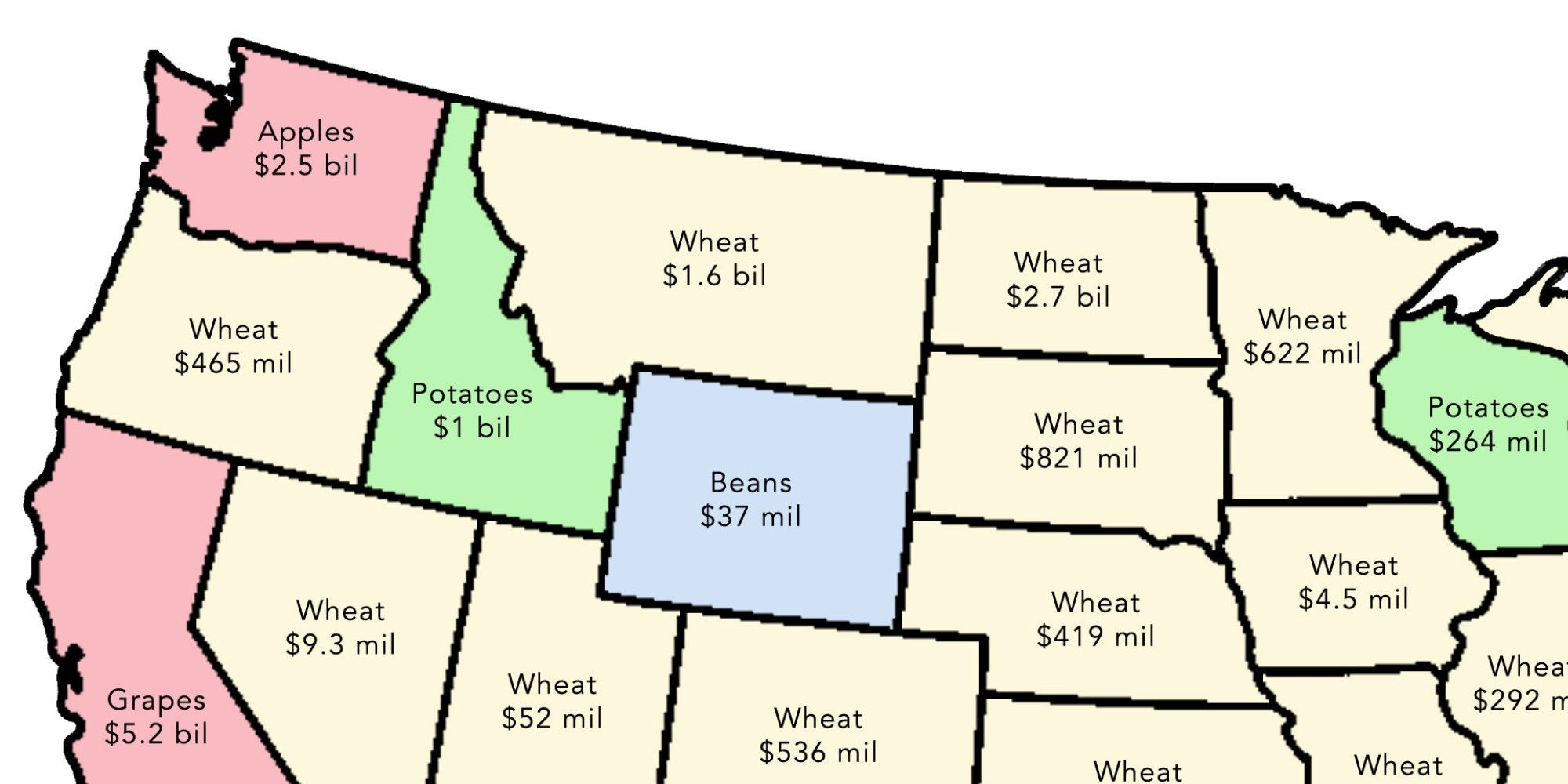 2 Simple Maps That Reveal How American Agriculture Actually Works - Map-of-us-agriculture