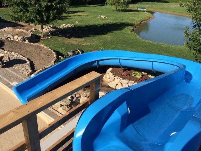 Imagine having this custom residential water slide in your ...
