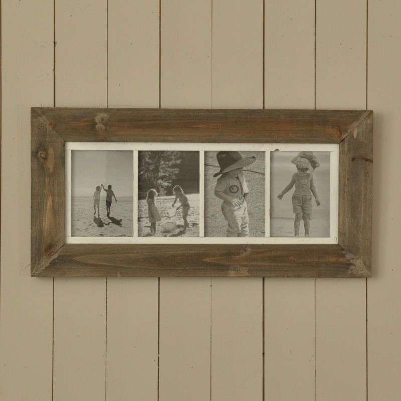 Natural Wood Four Picture Multi Frame   Country Living   Pinterest ...
