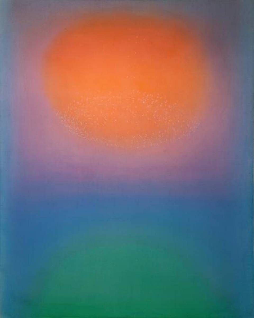 """Midday Moon No. 4"" by Leon Berkowitz, oil on canvas, at Virginia Miller Galleries in Coral Gables, January - April 2015."