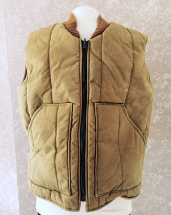 Walls Vest Brown Tan Work Hunting Quilted Insulated Lined Mens Medium 38 40