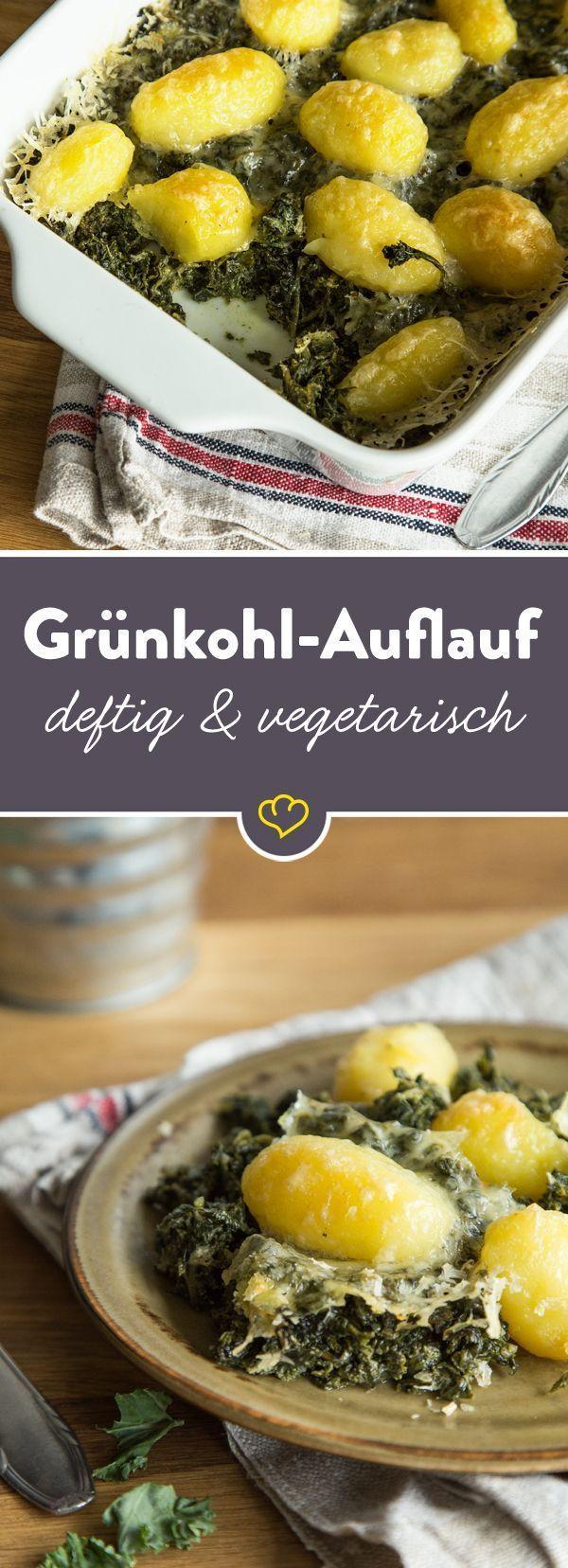 Heiße Ofenliebe: vegetarischer Grünkohl-Kartoffel-Auflauf #vegetariandish