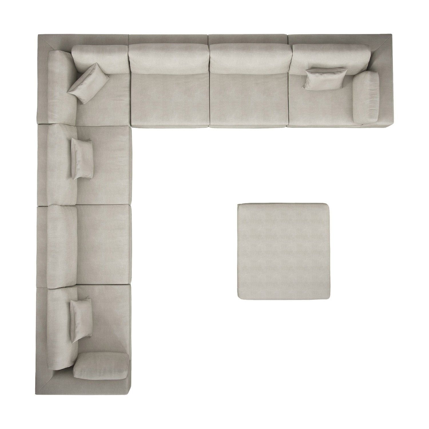 Perry preconfigured large corner sectional sofa for Sofas grandes modernos