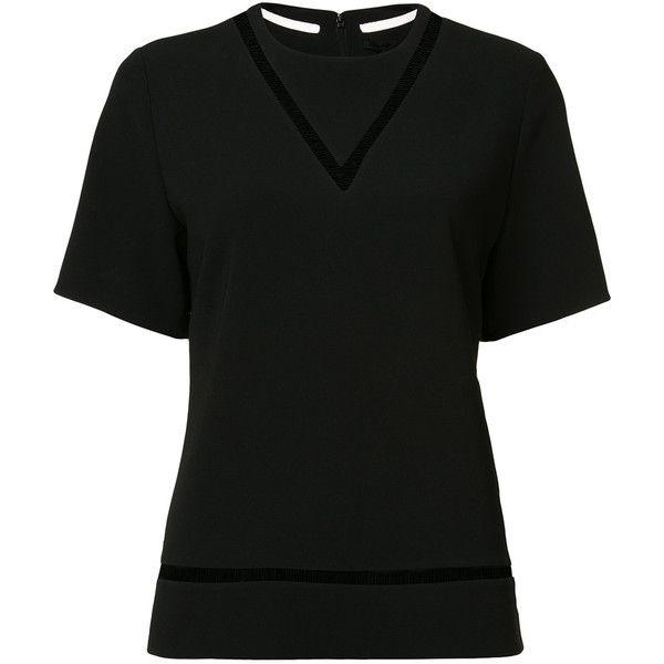 Alexander Wang fishing line boxy T-shirt (35.355 RUB) ❤ liked on Polyvore featuring tops, t-shirts, black, short sleeve tee, short sleeve tops, alexander wang t shirt, boxy t shirt and alexander wang