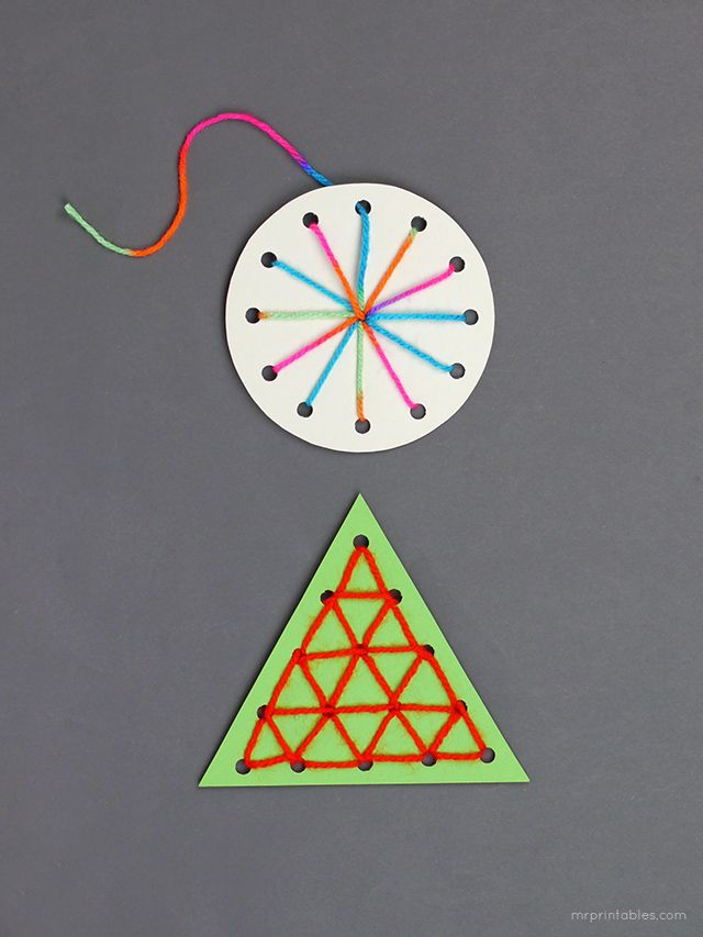 Easy sewing cards / Christmas ornaments kids can make | Christmas ...